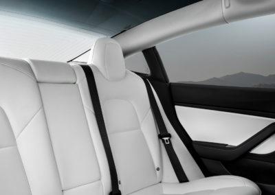 Tesla intérieur blanc